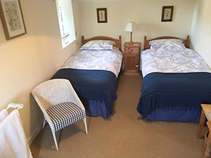 Twin room at The Long House Bed and Breakfast
